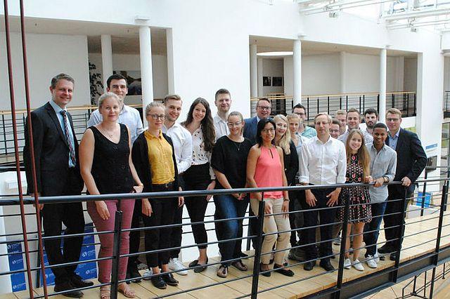 Die Studierenden der UW/H bei den Stadtwerken Witten