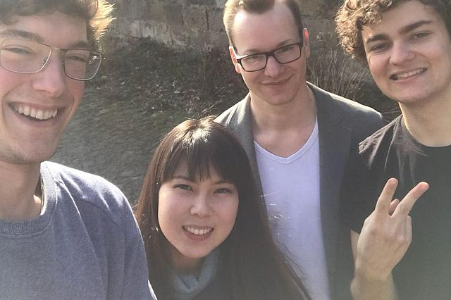 Picture of Yukari and Timo at the oikos Winter School at Uni Witten/Herdecke in 2018.