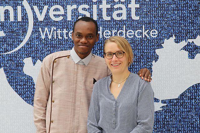 Prof. Dr. Evans Osabuohien und Jun.-Prof. Magdalene Silberberger