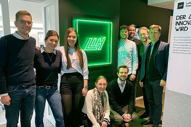 Studierende besuchen das Lufthansa Innovation Hub im Rahmen des Talentprogramms