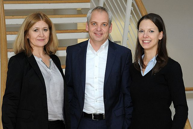 Chair Michael Steiner, office manager Suzana Filko and research assistant Lara Marzinek.