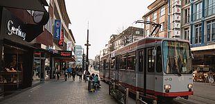 Die Wittener Innenstadt mit Stadtbahn