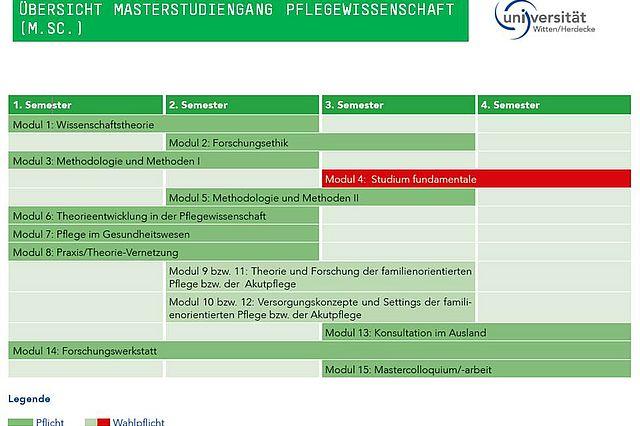 Pflegewissenschaft (M.Sc.) - Übersicht der Module