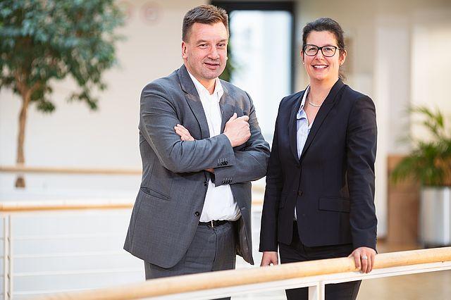 Der neue Vorstand: Andrea Psarski und Stephan Kohorst