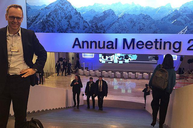 Hon.-Prof. Dr. Rainer Strack beim Weltwirtschaftsgipfel in Davos