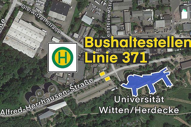 Universität Witten/Herdecke - Standorte Bushaltestellen