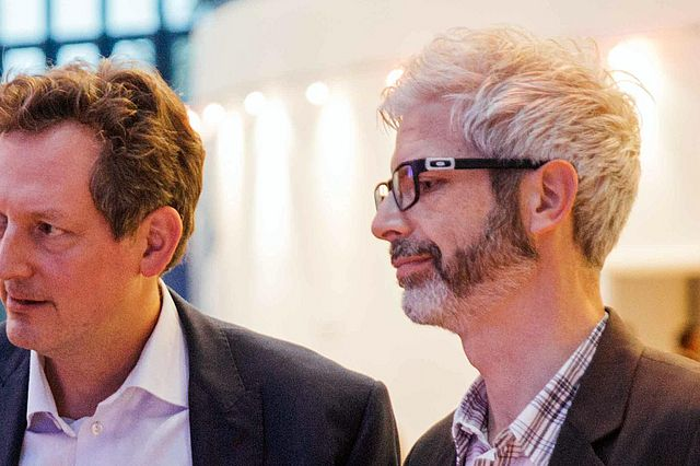Dr. Eckart von Hirschhausen (l.) und Prof. Dr. Tobias Esch