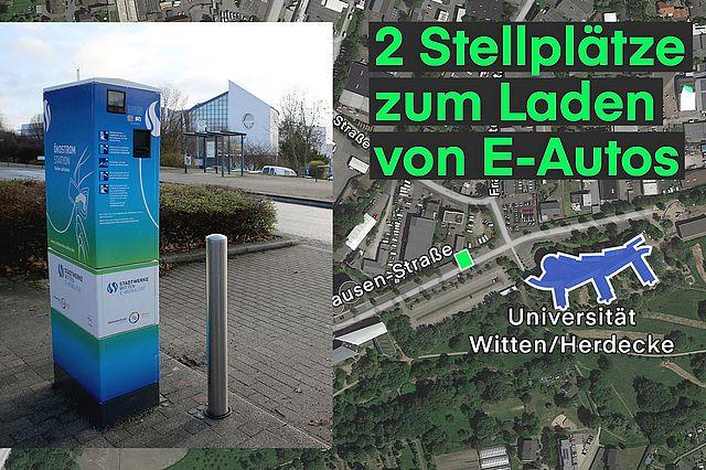 Universität Witten/Herdecke - ausgezeichnete Ladesäulen für Elektrofahrzeuge