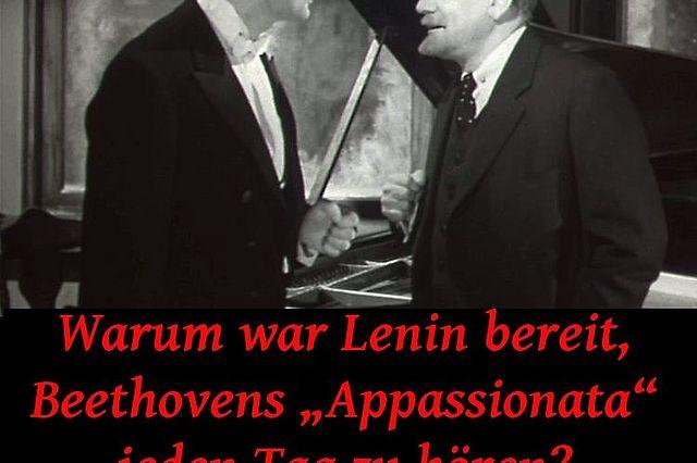 """Poster zur Veranstaltung """"Warum war Lenin Bereit, Beethovens 'Appassionata' jeden Tag zu hören?"""""""