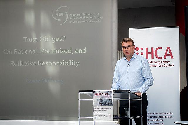 Professor Dr. Guido Möllering am Heidelberg Center for American Studies