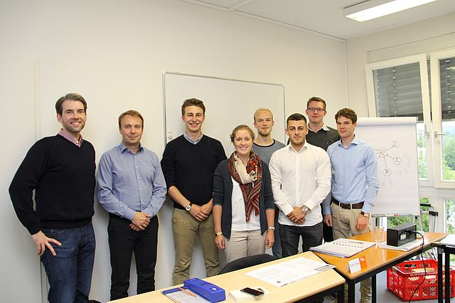 (from left to right): Professor Dr. Erik Strauß, Peter Stonn (Managing Director of Improved Reading), Louis Jarvers, Isabel Gadea, Richard Knudsen, Claudio Gentile, Christian Scherpel and Christoph Reuter