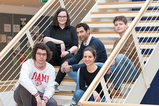 Das Übergabe-Team (v.l.): Mike Rommerskirch, Eva Maria Gruber, Christian Köbke, Franziska Anuhsi Jagoda, Alexander Hochmuth