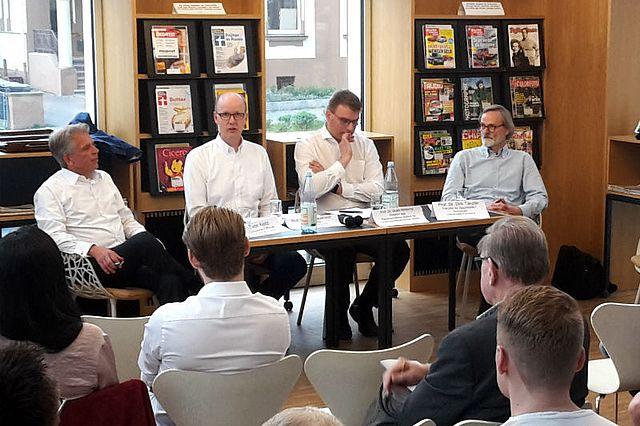 v.l. Dirk von Keitz, Dirk Sauerland, Guido Möllering und Dirk Tänzler
