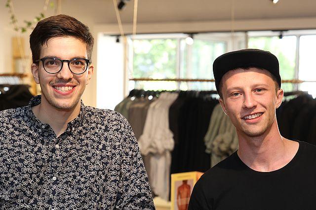 Jan-Frederik Ude (li) und Lucas Bauer (re)
