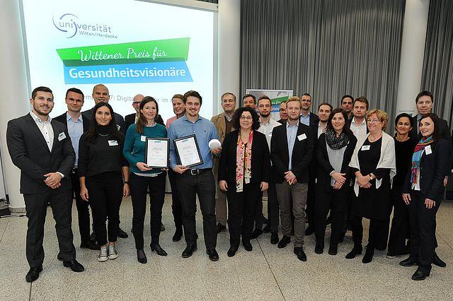 Startups, Jury und Organisationsteam des Wittener Preises für Gesundheitsvisionäre 2017