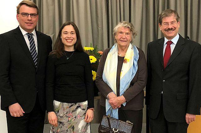 Prof. Dr. Guido Möllering, Prof. Dr. Elke Schüßler, Hertha Vodrazka, Prof. Dr. Helmut Pernsteiner