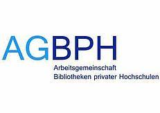 Das Bild zeigt das Logo der AG Bibliotheken privater Hochschulen