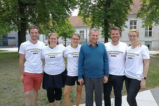 Das Team Witten (v.l.n.r.): Jannik Schumann, Louisa Daunert, Maxi Thalheim, Jörg Reißenweber, Marvin Scholten, Ann-Kathrin Laberer