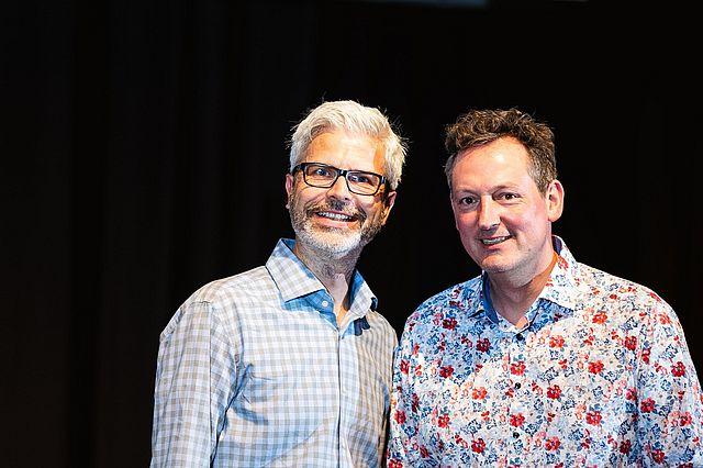 Prof. Dr. Tobias Esch (l.) und Dr. Eckart von Hirschhausen