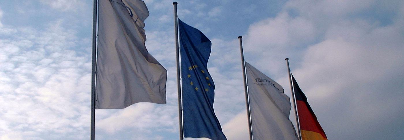 Witten/Herdecke University - EU and German flag